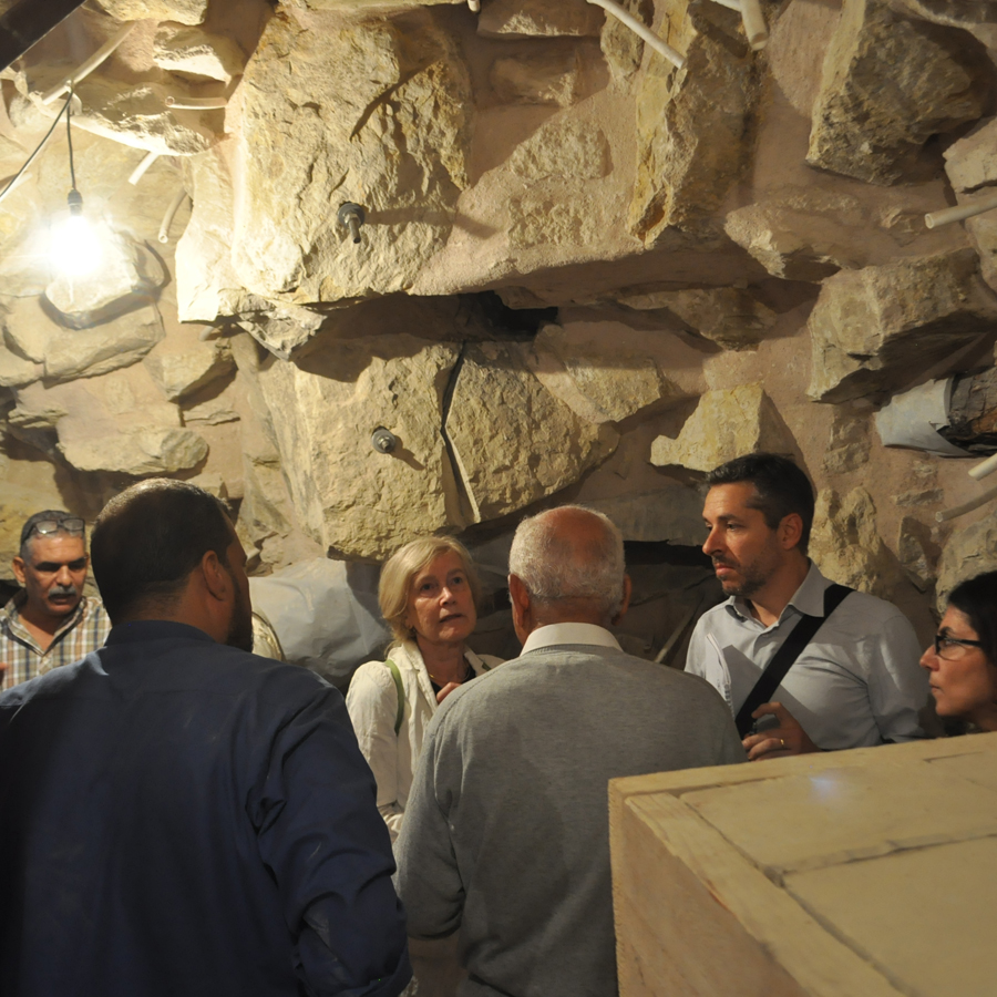 UNESCO delegate inside the Djoser