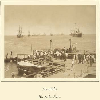 Ismailia view of roadstead on 19 june 1885 photo by Arnoux