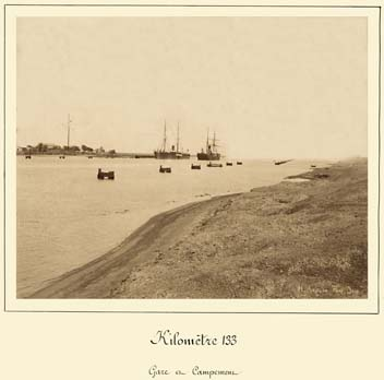 Suez Canal terminal and camps photos by Arnoux 1869-1885
