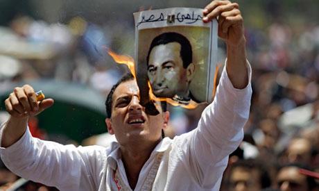 anti-mubarak protester
