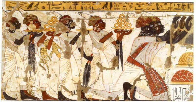 Nubian illustration at Huy Tomb, Luxor