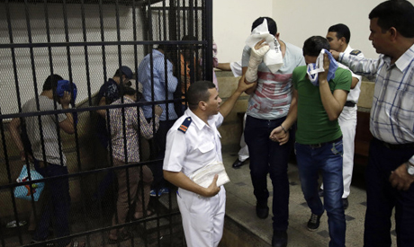 """Eight Egyptian men convicted for """"inciting debauchery"""" following their appearance in a video of an a"""