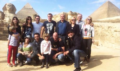 Xavi and his family visit Egypt