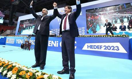 Mashal and Ahmet Davutoglu