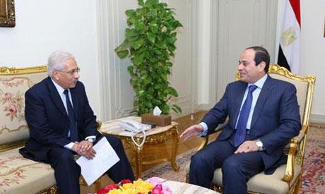 Abdel Fattah El-Sisi speaks with Al-Ahram Editor-in-chief Mohamed Abdel Hady