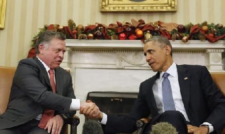 Obama with King Abdullah