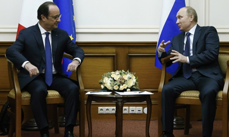 Putin with Hollande