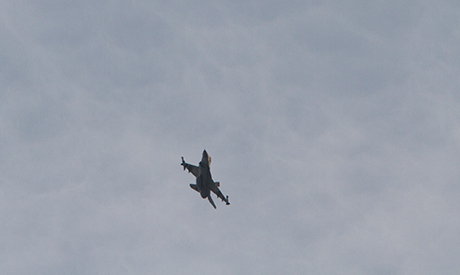 An Israel F-16 jet fighter