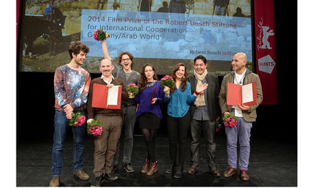 The three winning teams of the Film Prize of the Robert Bosch Stiftung for International Cooperation