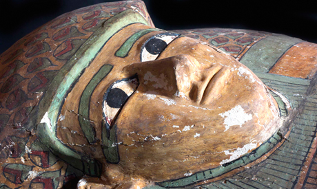Rare wooden anthropoid sarcophagus discovered in Luxor