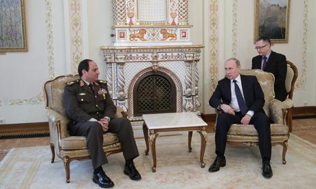 Field Marshal Abdel-Fattah el-Sissi with Russian President Vladimir Putin