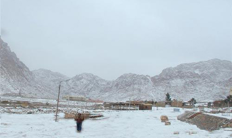 Saint Catherine Mount during winter