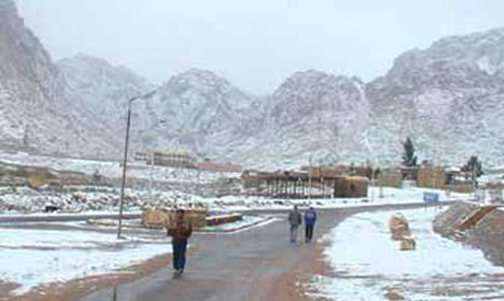 Saint Catherine Mount during winter