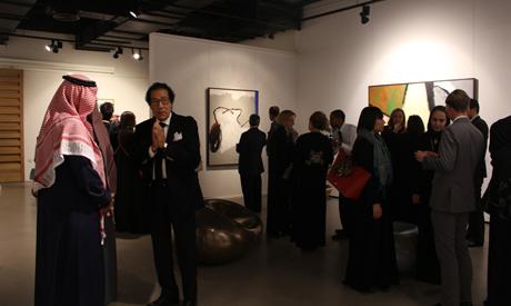 Farouk Hosni at the exhibition