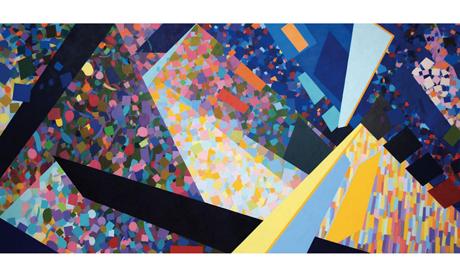 Pyramid (2011) by Samia Halaby. (Photo: copyright the artist.)