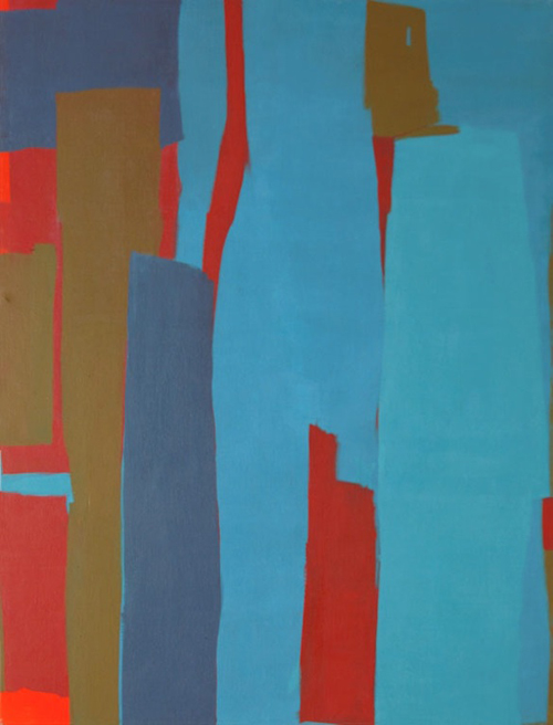 Largest Blue Green (1963) by Samia Halaby. (Photo: copyright the artist.)