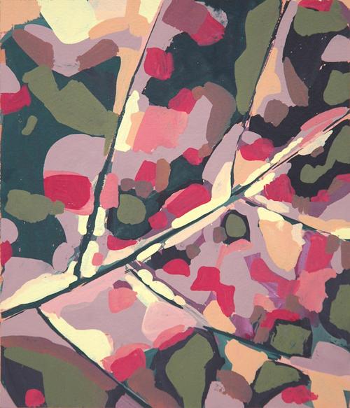 Autumn Leaf Study (1975) by Samia Halaby. (Photo: copyright the artist.)