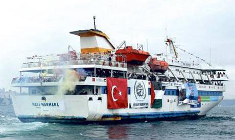 The Gaza-bound Turkish flotilla