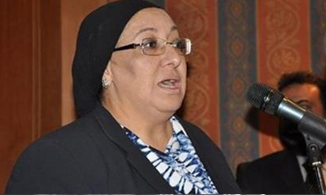 The minister of health Maha El Rabat