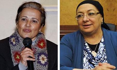 Mona mena and Health minister Maha Elrabat