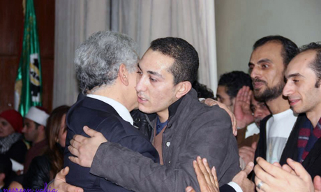 Founding member of Tamarod Hassan Shahin and Mohamed Abdel Aziz