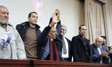 Founding member of Tamarod Hassan Shahin and Mohamed Abdel Aziz