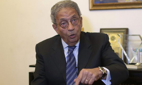 Former foreign minister and presidential candidate Amr Moussa