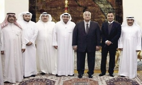 Adly Mansour and Kuwaiti journalists