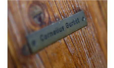 Photo of the name plate on the house of art collector Cornelius Gurlitt in Salzburg. (Photo: Reuters