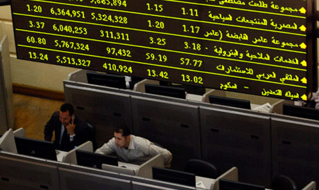 Traders work in Egypt