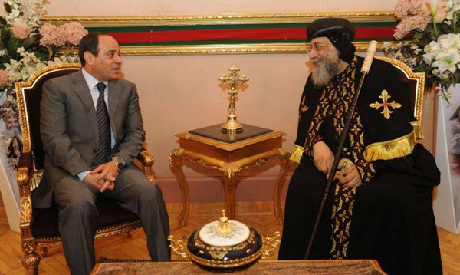 El-Sisi with Pope Tawadros II