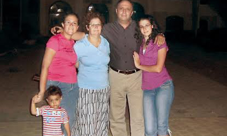 Nashed Fekry and his family