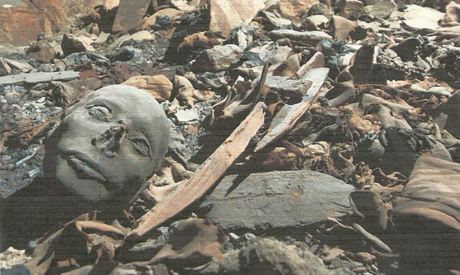 mummy mask unearthed