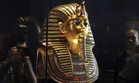 King Tutankhamun is on display at the Egyptian Museum