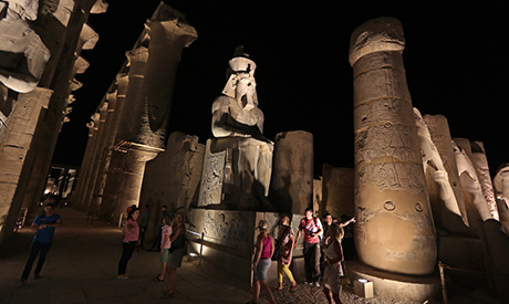 Tourists visit Luxor