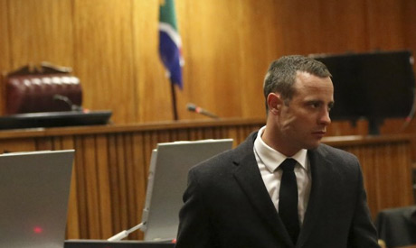 Olympic and Paralympic track star Oscar Pistorius