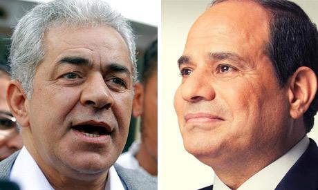 Hamden Sabahi and El-Sisi