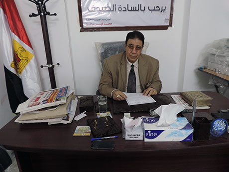 Mohamed Fahmy Saleh, a former NDP member in his office in Assiut