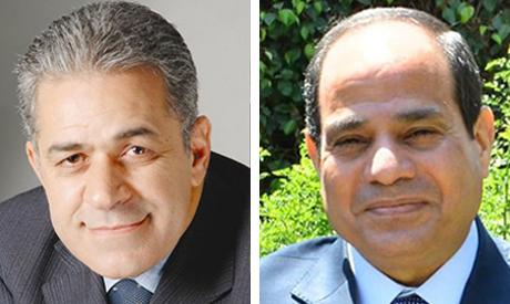 Hamdeen Sabbahi (Left) and former army chief Abdel-Fattah El-Sisi