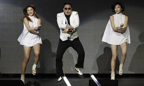 South Korean rapper Psy performs