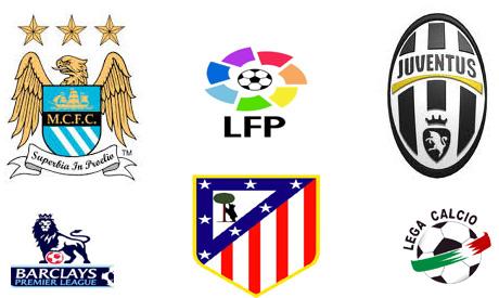 Top European leagues leaders