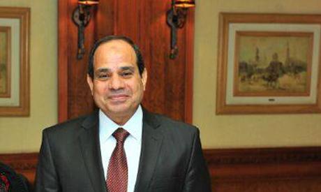 Presidential hopeful ex-minister of defense Abdel-Fattah El-Sisi