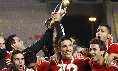 Al Ahly Players celebrate winning their African Champions League