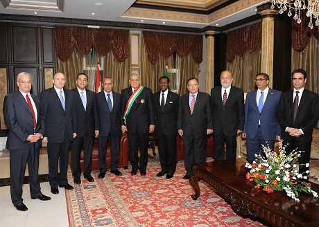 Mahlab with Guinea President