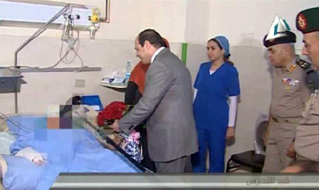 President Abdel Fattah El-Sisi visits Tahrir sexual harassment victim