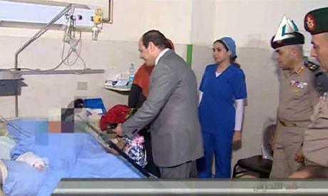 President Abdel Fattah El-Sisi visits Tahrir sexual harassment victim