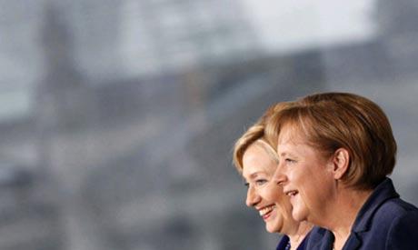 Merkel, Hillary Clinton