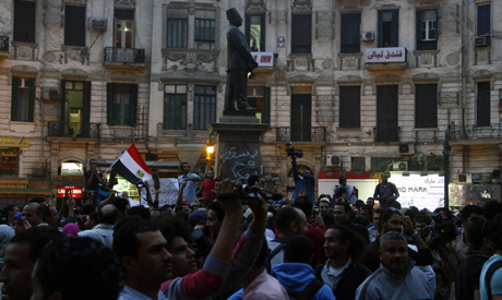 Protesters demonstrate against protest law