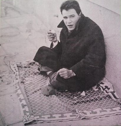 Abdel Halim Sitting On The Floor And Eating Lettuce For Last Time After His Doctor Instructed Him Not To Eat It Again