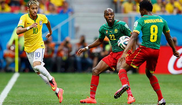 البرازيل والكاميرون بث مباشر
